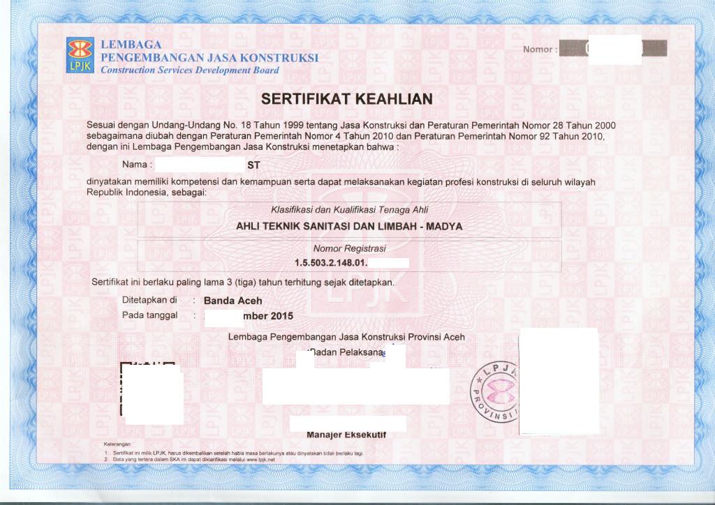 urus sertifikat keahlian  ska  konstruksi lpjkn